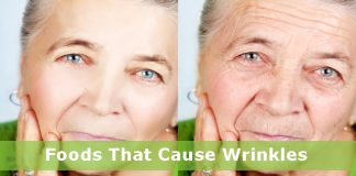 Foods that cause wrinkles